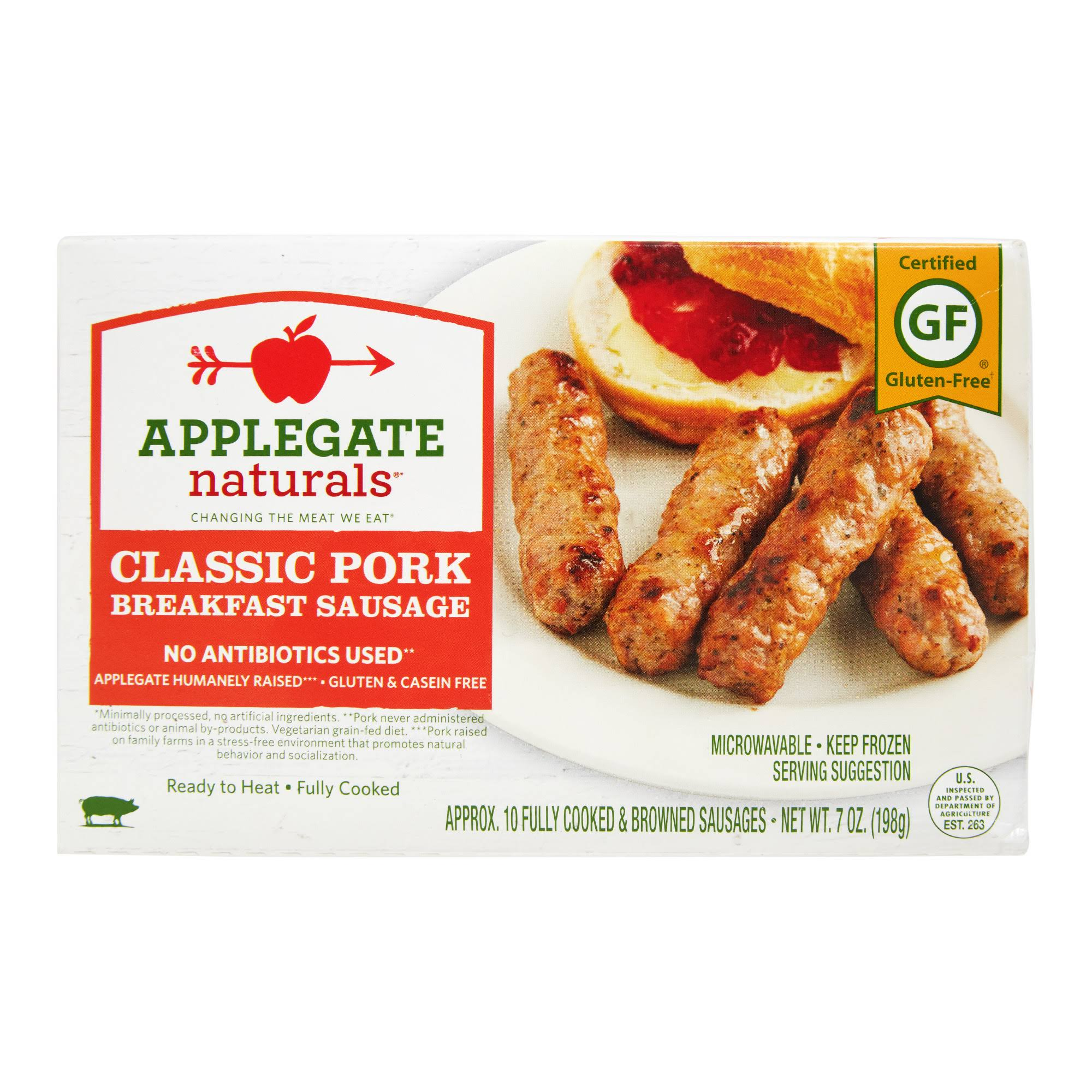 Applegate Farm Natural Classic Pork Breakfast Sausage - 12 Pack, 7oz