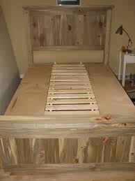 Ana White Headboard Plans by Ana White Blue Stain Pine Farmhouse Storage Bed Diy Projects
