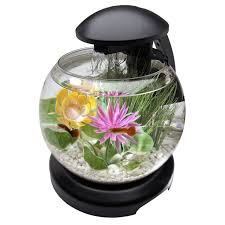 Spongebob Aquarium Decorating Kit by Tetra 1 8 Gallon Waterfall Globe Aquarium Kit Sku 1368982 Http