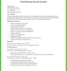 Retail Banking Resume Sample Of