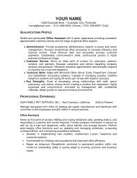 Regular Office Assistant Resume Sample Br Samples Useful For Fice Fi Example Large Size