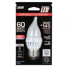feit electric led bulb clear candelabra tip e26