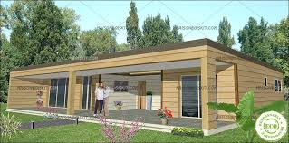 chalet en kit habitable prix maison bois moderne 3 chambres toit plat