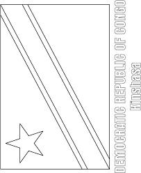 Democratic Republic Of Congo Flag Coloring Page