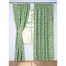 Pixel Ready Made Thermal Blackout Curtains Green