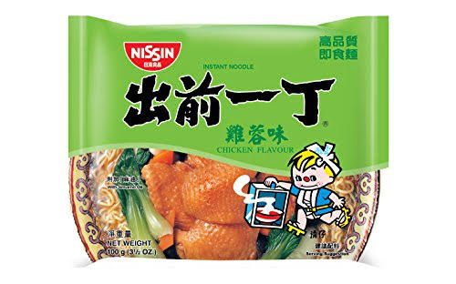 Nissin Instant Noodle with Soup Base - Chicken Flavour, 100g