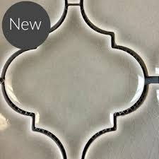 highland park handcrafted tile collection dove gray arabesque