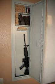 Stack On Security Cabinet 8 Gun by Stack On Iwc 55 Full Length In Wall Gun Storage Cabinet Walmart Com