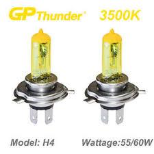 gp thunder 3500k gold xenon halogen light bulbs pair 9003