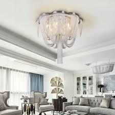 moderne deckenleuchte quasten design für wohnzimmer