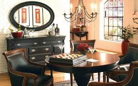 black rustic kitchen chandelier dining table and chairs