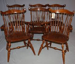 Set Of 6 Temple Stuart Windsor Chairs | Cabin Dining Room ...