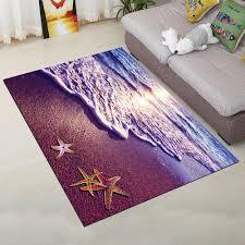tür matte europäischer stil lila meer strand küche hotel polyester teppich