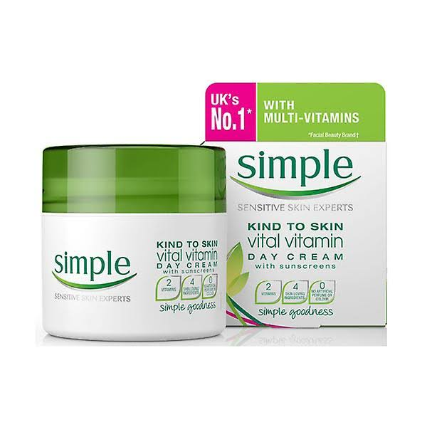 Simple Kind To Skin Plus Vital Vitamin Day Cream - SPF15, 50ml