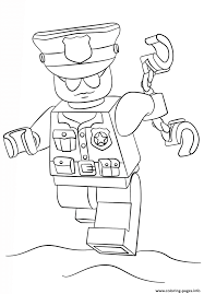 Lego Police Officer City Coloring Pages