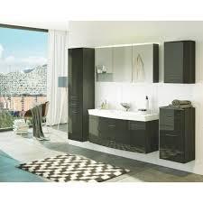 badmöbel set florida mit waschtisch 6 teilig 200 cm breit hochglanz grau