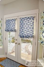 French Door Treatments Ideas by Adorable Patio Door Roman Shades And Best 25 Sliding Door Blinds