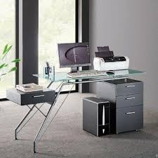 Tempered Glass Computer Desk by China Computer Desk With Drawers And Tempered Glass Tabletop On