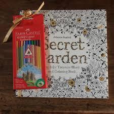 Secret Garden Coloring Book With Faber Castel Colored Pencils