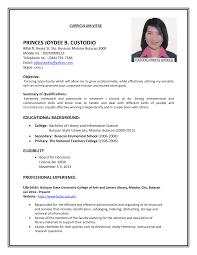 10 Women Teacher Post Resume Format