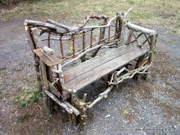 Garden Seat Made From Recycled Wood Rusty Chain With Tools Such As Trowels Incorporated Into