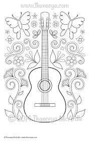 Color Fun Guitar Coloring Page By Thaneeya McArdle