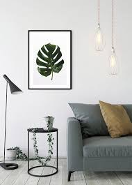 wandbild monstera leaf