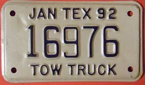 File:TEXAS 1992 -TOW TRUCK SUPPLEMENTAL LICENSE PLATE - Flickr ... Towing Companies Offer So Much More Than Just Tow Truck Services By Ford F550 Tow Truck Sn 1fdxf46f3xea42221 Number Gta 5 Famous 2018 Receipt Template Professional Invoice New Rates And Specials From Oklahoma Car Service And Vector Icon Set Stickers Stock Freeway Patrol Expands Of Clean Air Vehicles In San Call Naperville Classic For A Light Medium Or Heavy Duty Buy Catalogue Nor The World Towing Ideas Customs Tarif Number Buzz Blog Physics Life Hack 3 Getting Your Ride Out