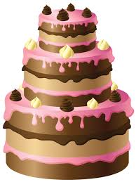 Chocolate Cake with Pink Cream PNG Clipart