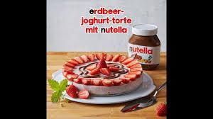erdbeer joghurt torte mit nutella