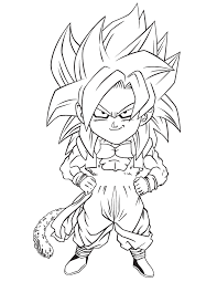 Dragon Ball Z Gogeta Coloring Page