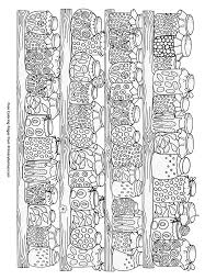 Fall Coloring Page Canning Jars With Food