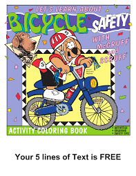 Dog Bicycle Safety Coloring Book