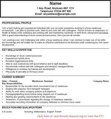51 Warehouse Job Description For Resume Infinite Operator Cv Example Fitted