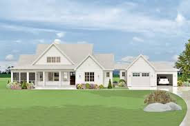 100 L Shaped Modern House Plan 28924JJ Farmhouse With SemiAttached Garage