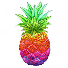 Zentangle Pineapple Coloring Page Illustrated By Marie Browning Zoom Previous Next