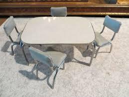 Miniature Artisan Signed Karen Fuller K J Metalworks Table And Chairs
