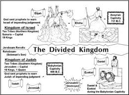 Bible Lessons With Clear Line Drawing Illustrations Of Historical Biblical Events Lesson The Divided Kingdom