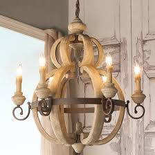 Rustic Wood And Rusty Metal Chandelier