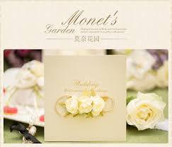Customized Wedding Invitation Card Creative Design Monets Garden Rustic Accessories