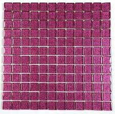 Pink Mosaic Tiles Glitter Bathroom