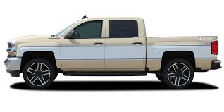 100 Truck Door Decals 20142018 Chevy Silverado RETRO CHEYENNE Stripes Mid