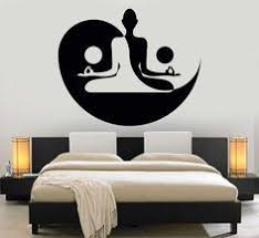 Vinyl Wall Decal Yin Yang Yoga Zen Meditation Bedroom Decor Stickers Mural Unique Gift 120ig