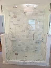renovation master bathroom marble frameless glass