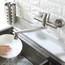wandarmatur küche küchenarmatur 2 wasserstrahlarten spültischarmatur mit schwenkbarer auslauf mischbatterie küche