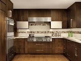 contemporary kitchen with mosaic tile backsplash beck allen