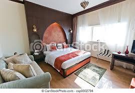innen der modernen wohnung schlafzimmer im orientalischen