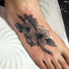 Tattoo On The Foot Of Girl