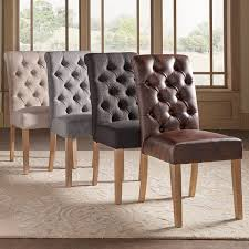 Cheap Leather Parsons Chairs by Benchwright Premium Tufted Rolled Back Parsons Chairs Set Of 2