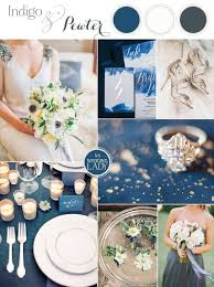 Indigo And Pewter A Timeless Wedding Palette